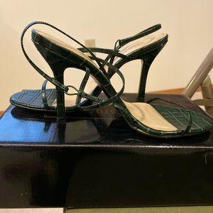 NWT Colin Stuart Green Strappy Heels